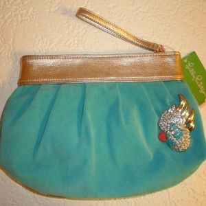 Lilly Pulitzer Under The Stars Suede Clutch
